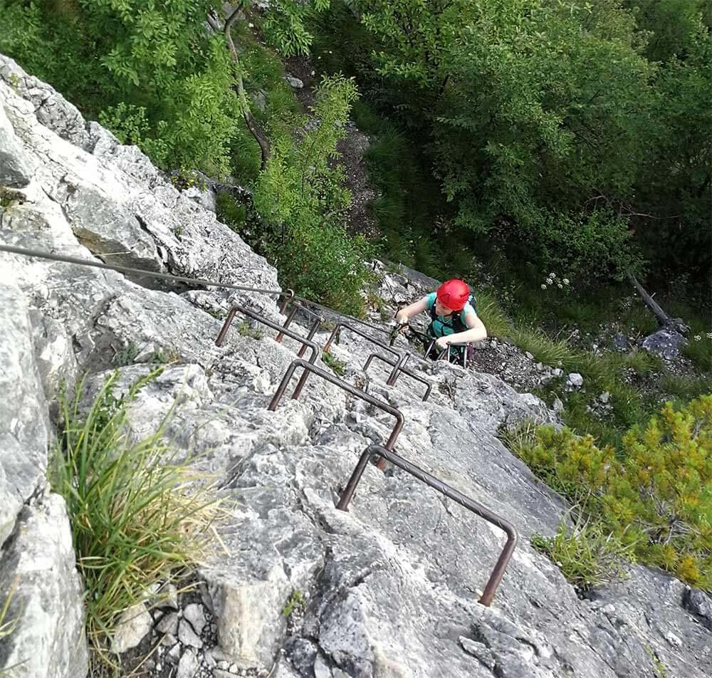 Zelo zahtevna plezalna pot na Lisco